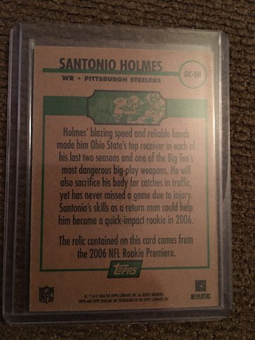 2006 Topps Heritage Gridiron Collection Jersey #GCSH - 2