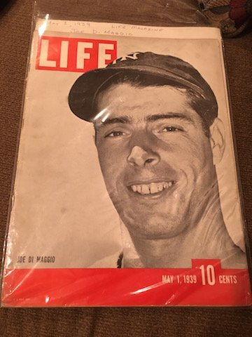 MAY 1, 1939 LIFE MAGAZINE w/ JOE DIMAGGIO ON