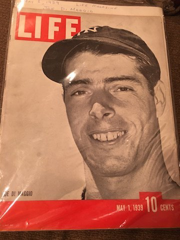 MAY 1, 1939 LIFE MAGAZINE w/ JOE DIMAGGIO ON - 2