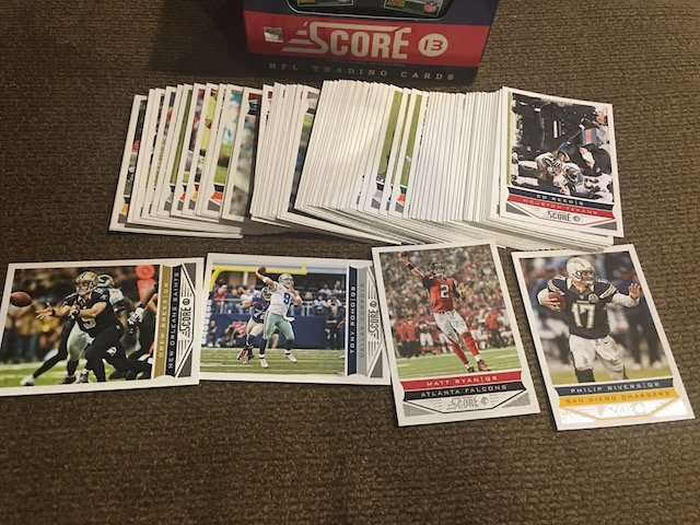 2013 Score Football card lot with Waxbox box - 2