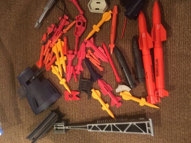 Vintage GI Joe Cobra Vehicle Parts Lot of  Missiles and - 2