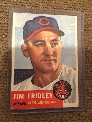 1953 TOPPS JIM FRIDLEY #187