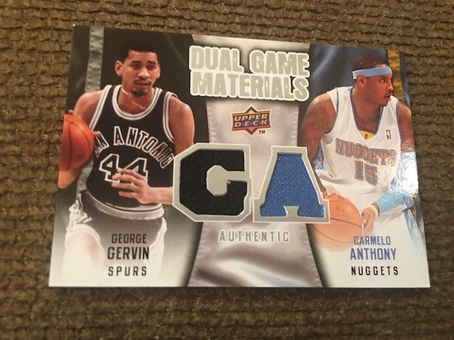 George Gervin Carmelo Anthony 2009-10 Upper Deck Dual