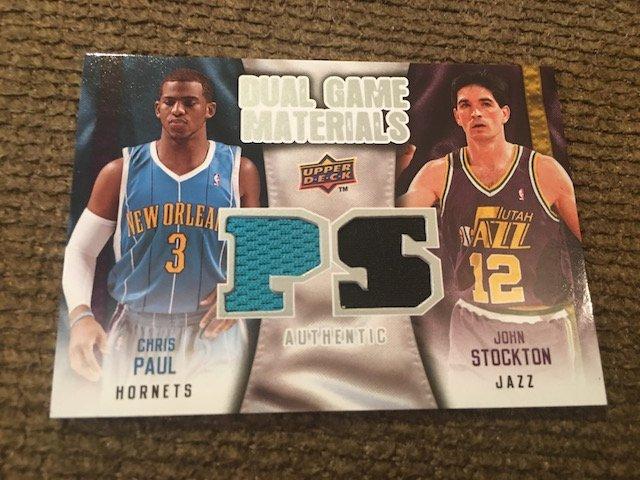 Chris Paul John Stockton 2009-10 Upper Deck Dual Game