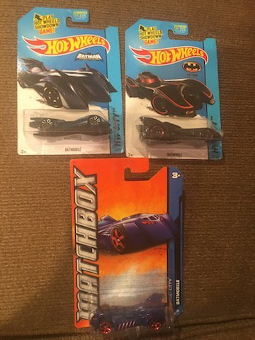 Lot of 3 Batman Hot Wheels and Matchbox Cars