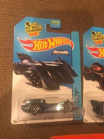 Lot of 3 Batman Hot Wheels and Matchbox Cars - 3