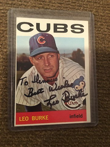 Leo Burke 1964 Topps signed auto autographed card Los
