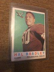 1959 Topps Football # 63 Hal Bradley RC