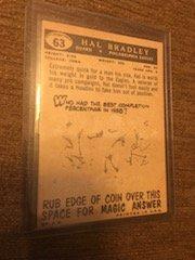 1959 Topps Football # 63 Hal Bradley RC - 2