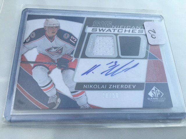 Nikolai Zherdev 2008-09 SP Game Used Significant