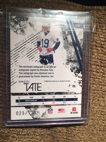 Brandon Tate 2009 Rookie and Stars Auto RC #151 - 2