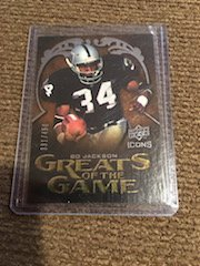 2009 UD ICONS Bo Jackson GREATS OF THE GAME Short Print