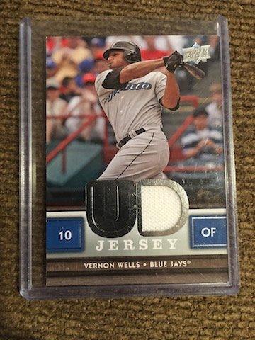 Vernon Wells  2008 Upper Deck UD Game Jersey