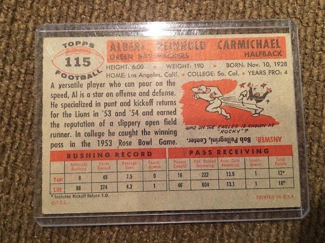 1956 Topps Al Carmichael #115 - 2