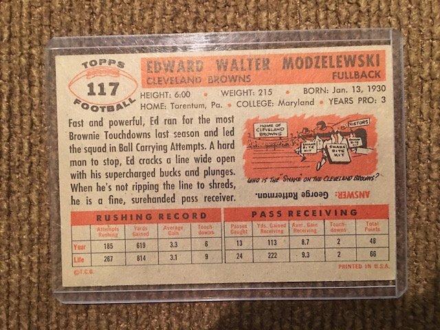 1956 Topps Ed Modzelewski #117 - 2