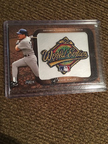 Wade Boggs 2009 World Series Patch 1996 World Series
