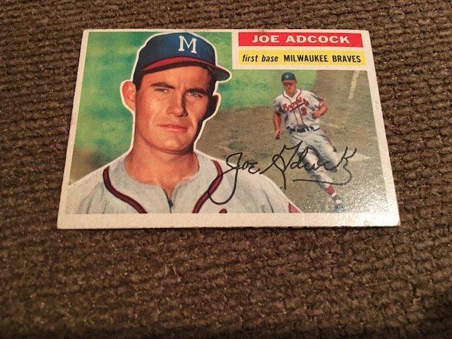 1956 Topps Set Break #320 - Joe Adcock