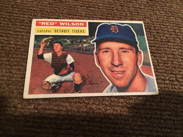 1956 Topps #92 RED WILSON #92
