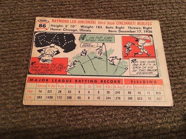1956 Topps #86 Ray Jablonski - 2
