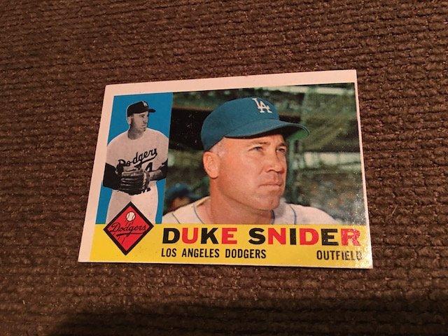 1960 TOPPS DUKE SNIDER #493 ... NM Sharp card Look