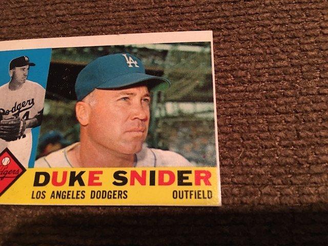 1960 TOPPS DUKE SNIDER #493 ... NM Sharp card Look - 2