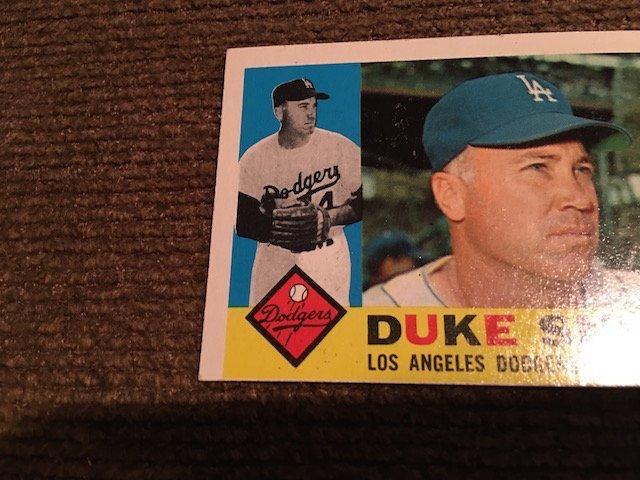 1960 TOPPS DUKE SNIDER #493 ... NM Sharp card Look - 3