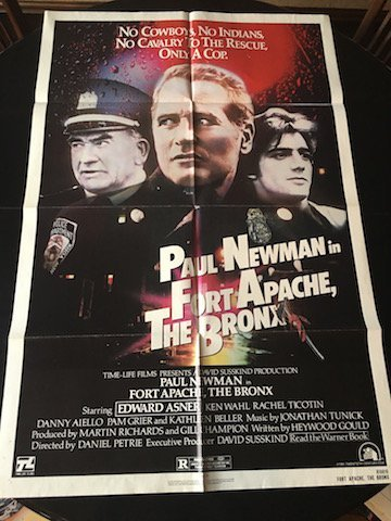 FORT APACHE, THE BRONX Movie POSTER 27x40 Paul Newman