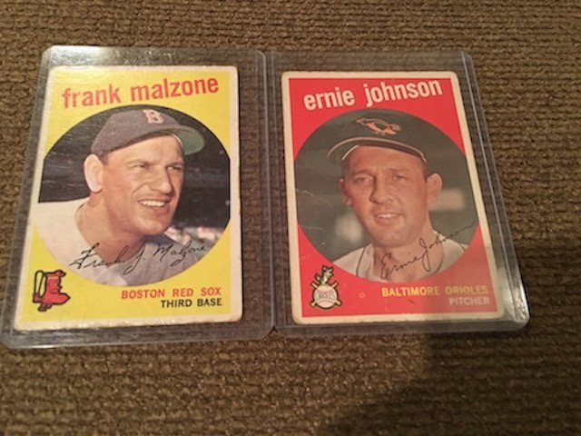 Frank Malzone Boston Red Sox Third Base & Ernie Johnson