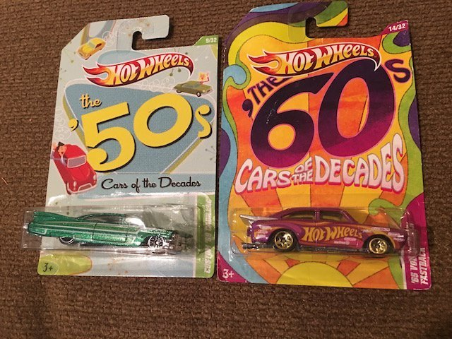 Hot Wheels The 50's/60's Cars of the Decades