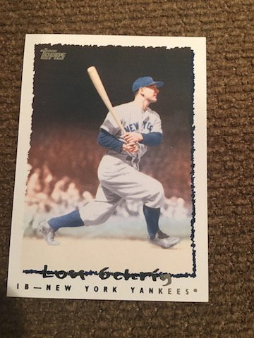 Topps Lou Gehrig 1923-1939 VLC-38 Game Record Card