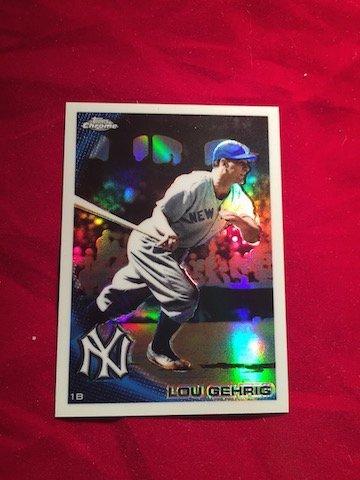 Topps Chrome Lou Gehrig #1B 223 NY Batting Record Card