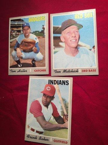 Set of 3 Dodgers Tom Haller Catcher #685, Red Sox Tom