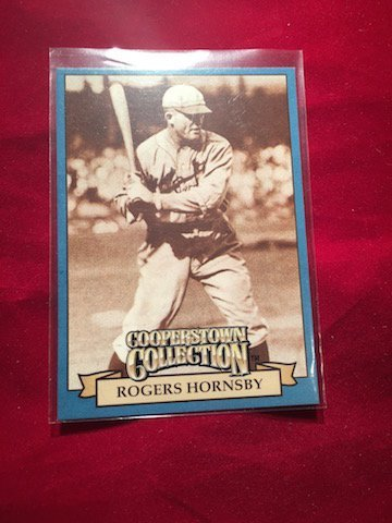 Cooperstown Collection Rogers Hornsby Batting Record