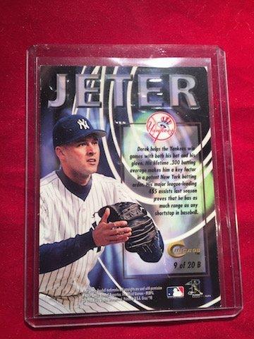 SS Derek Jeter Boss98 Thunder 9 of 20B Bio Card - 2