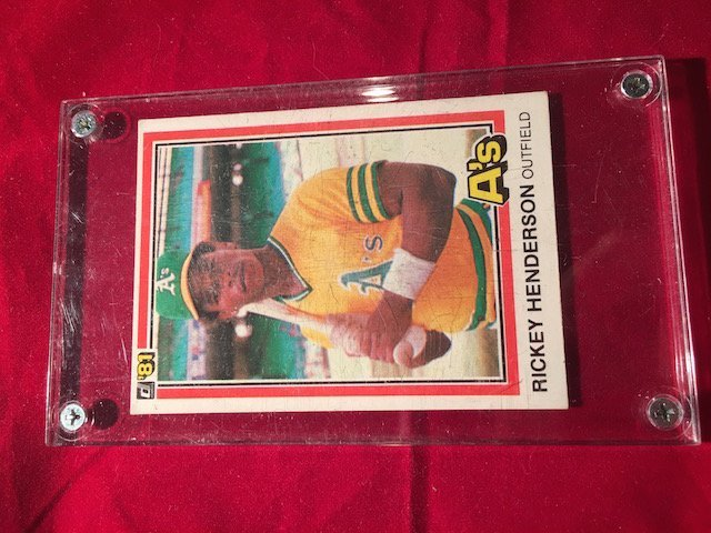 A's Rickey Henley Henderson #119 First Edition