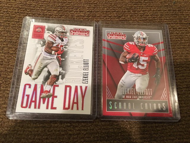 Ezekiel Elliot 2016 Contenders RC Lot Game Day and