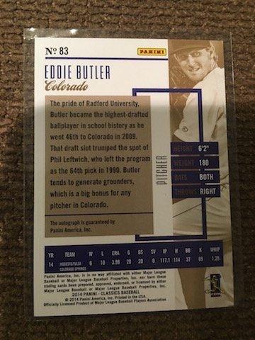 RC Classic Eddie Butler #83 Colorado 2014 11/25 - 2