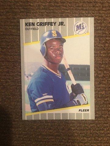 Ken Griffey JR. Mariners M's Fleer 1989 Fleer Rc  #548