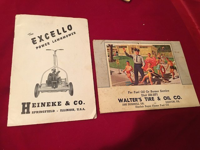 2 Vintage antique advertising and Calendar The excello