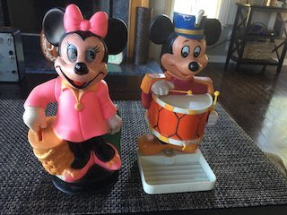 Mickey Mouse 1976 Enco Soap Dish and Minnie Mouse