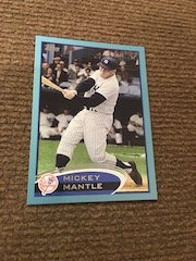 Mickey Mantle 2012 Topps Blue SP #7