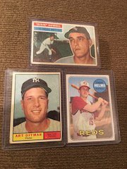 Lot of 3 Vintage 1950's and 60's Baseball card