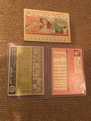 Lot of 3 Vintage 1950's and 60's Baseball card - 2
