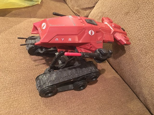 Gi Joe 25th Anniversary Hiss Tank Red