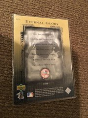 Derek Jeter 2000 Upper deck Eternal Glory Insert New - 2