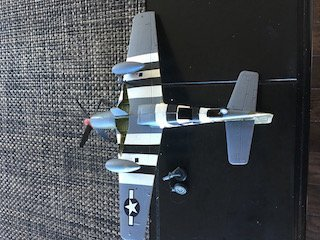 ACADEMY 1/72 P-51B OLD CROW WWII FIGHTER MODEL - 4