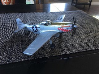 Gladys P-51 Mustang 1:48 Scale Airplane Model Metal Toy