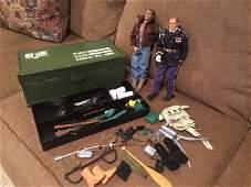 Gi Joe Locker Box Fillerd with 2 ken dolls and a