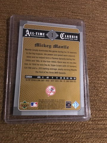 MICKEY MANTLE 2002 SWEET SPOT ALL TIME CLASSICS - 2