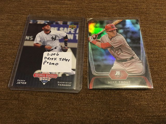Mike Trout Bowman Platinum Derek Jeter Memorial